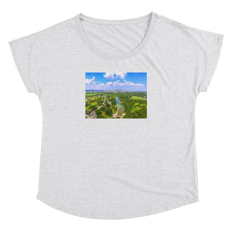 Barton Springs Pool / Custom Merchandise / Aerial Photography Women's Dolman Scoop Neck by Holp Photography Artist Shop