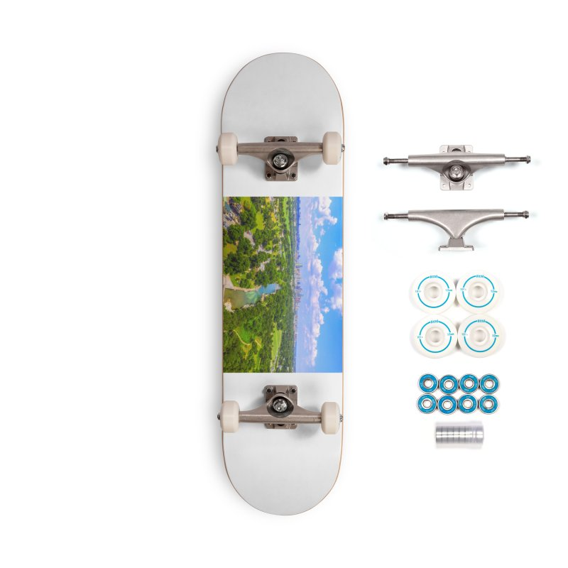 Barton Springs Pool / Custom Merchandise / Aerial Photography Accessories Complete - Basic Skateboard by Holp Photography Artist Shop