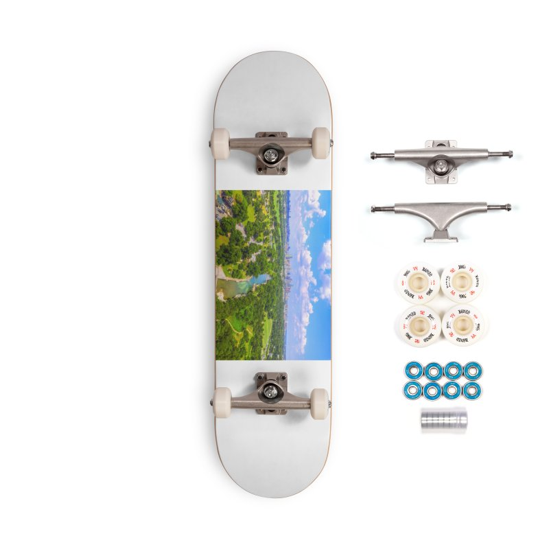 Barton Springs Pool / Custom Merchandise / Aerial Photography Accessories Complete - Premium Skateboard by Holp Photography Artist Shop