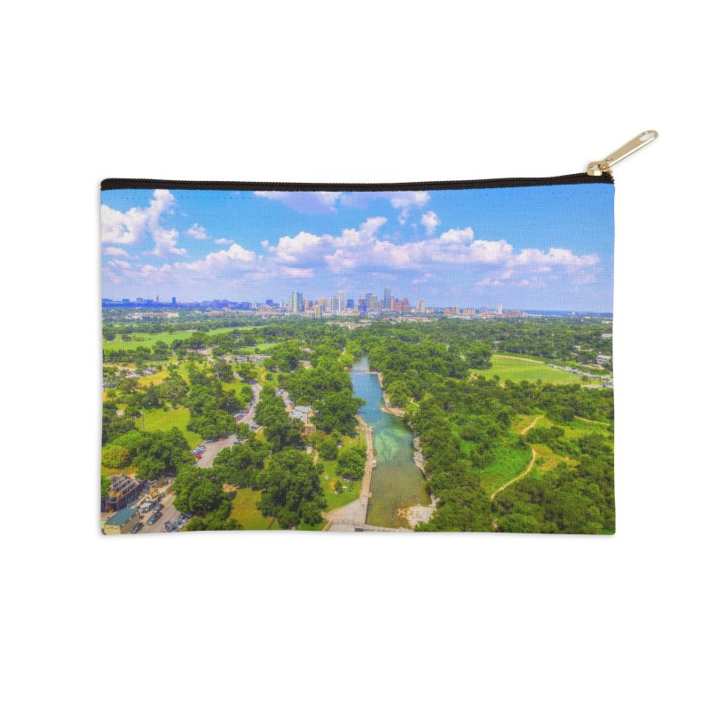 Barton Springs Pool / Custom Merchandise / Aerial Photography Accessories Zip Pouch by Holp Photography Artist Shop