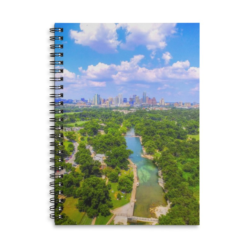 Barton Springs Pool / Custom Merchandise / Aerial Photography Accessories Lined Spiral Notebook by Holp Photography Artist Shop