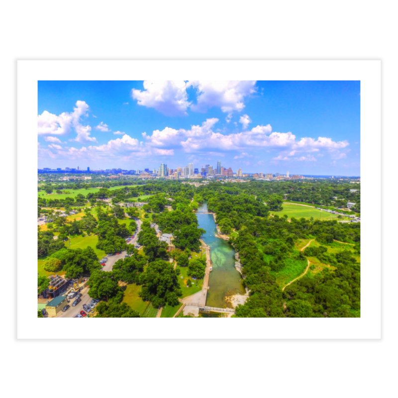 Barton Springs Pool / Custom Merchandise / Aerial Photography Home Fine Art Print by Holp Photography Artist Shop