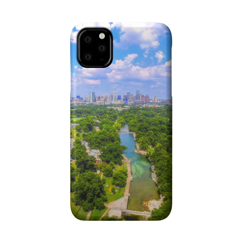 Barton Springs Pool / Custom Merchandise / Aerial Photography Accessories Phone Case by Holp Photography Artist Shop