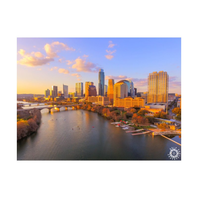 Austin Skyline Sunset / Custom Merchandise / Aerial Photography by Holp Photography Artist Shop