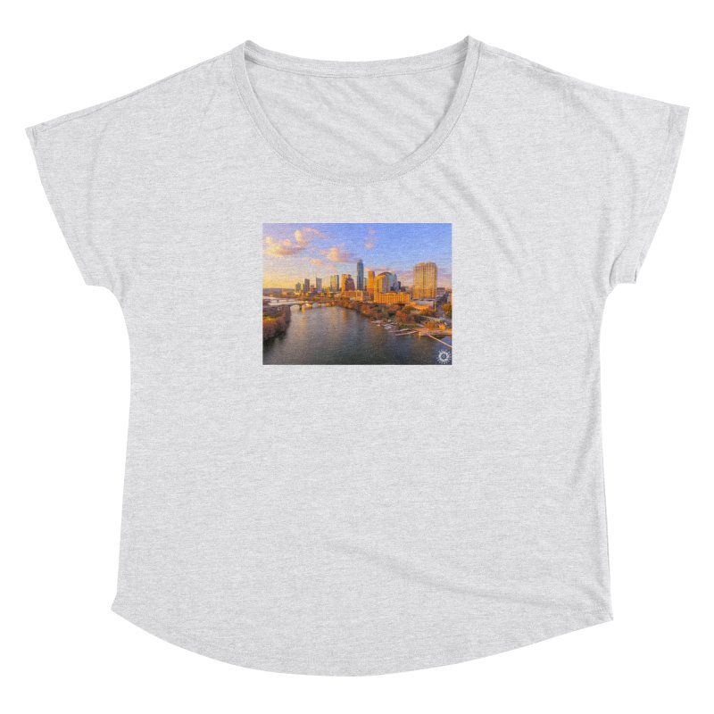 Austin Skyline Sunset / Custom Merchandise / Aerial Photography Women's Dolman Scoop Neck by Holp Photography Artist Shop