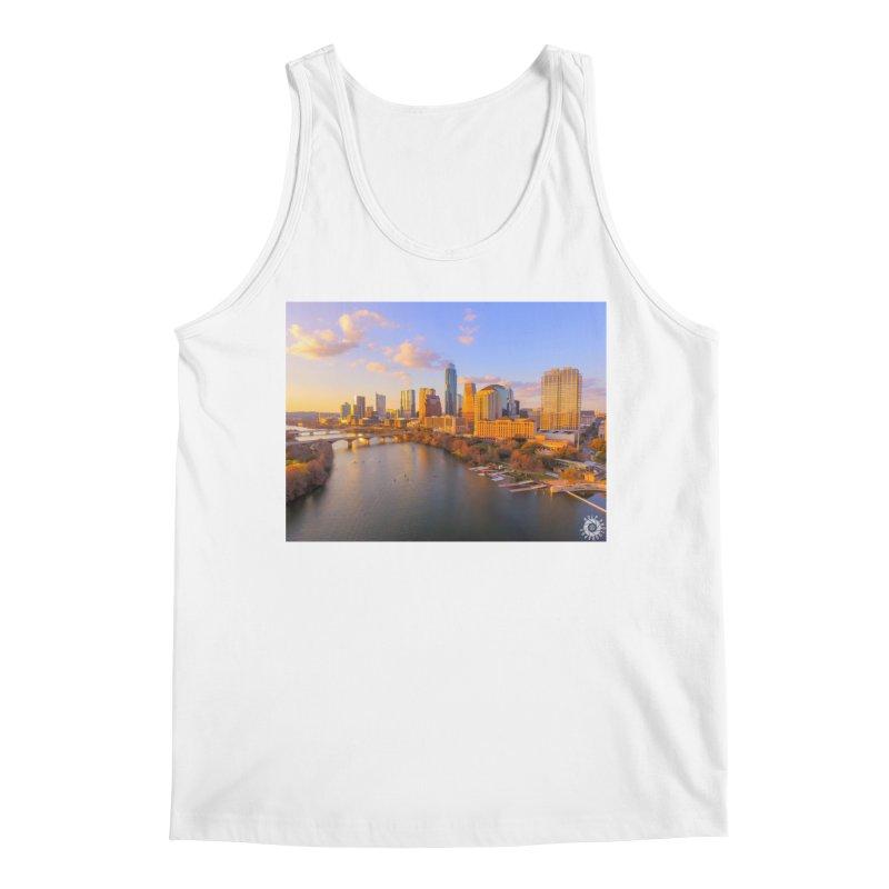 Austin Skyline Sunset / Custom Merchandise / Aerial Photography Men's Regular Tank by Holp Photography Artist Shop