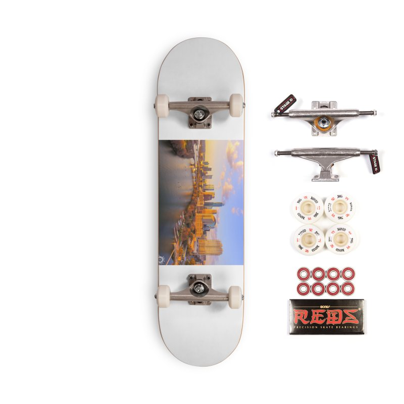 Austin Skyline Sunset / Custom Merchandise / Aerial Photography Accessories Complete - Pro Skateboard by Holp Photography Artist Shop
