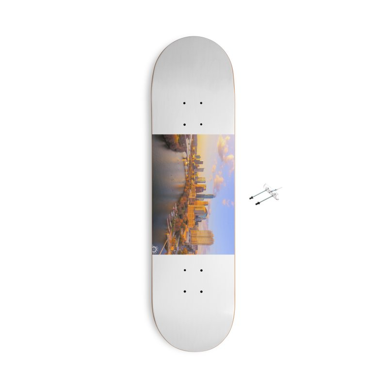 Austin Skyline Sunset / Custom Merchandise / Aerial Photography Accessories With Hanging Hardware Skateboard by Holp Photography Artist Shop