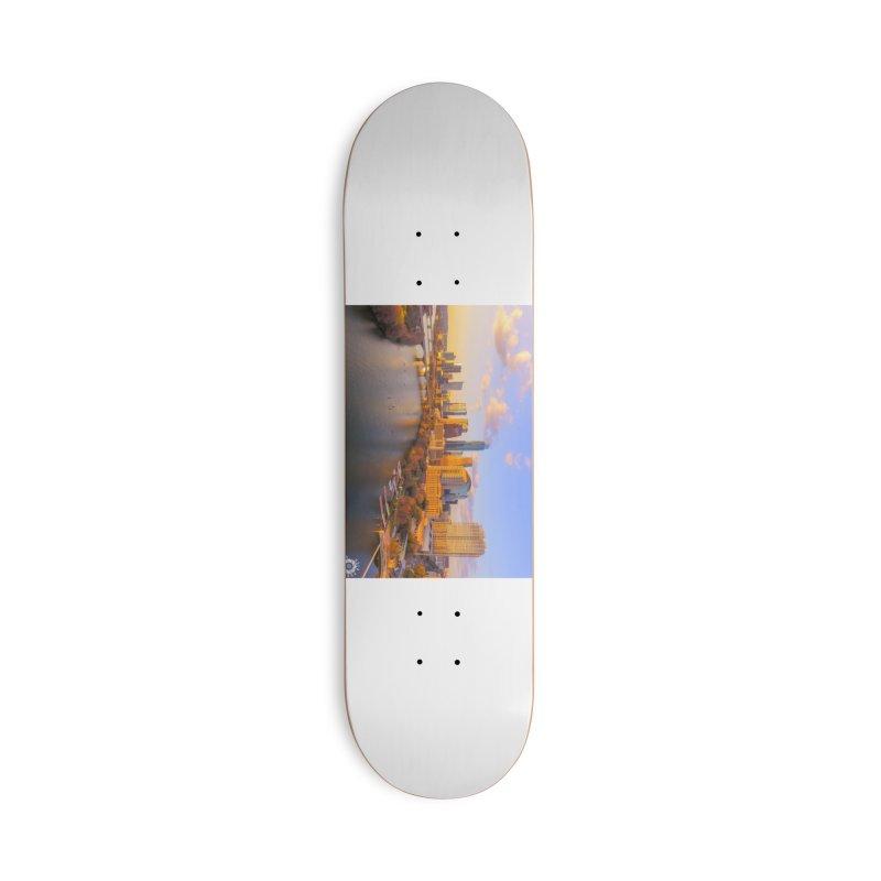 Austin Skyline Sunset / Custom Merchandise / Aerial Photography Accessories Deck Only Skateboard by Holp Photography Artist Shop