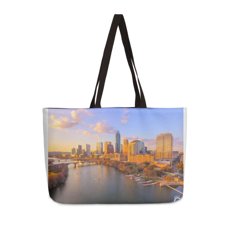 Austin Skyline Sunset / Custom Merchandise / Aerial Photography Accessories Weekender Bag Bag by Holp Photography Artist Shop