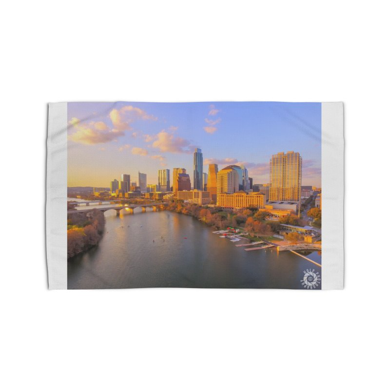 Austin Skyline Sunset / Custom Merchandise / Aerial Photography Home Rug by Holp Photography Artist Shop