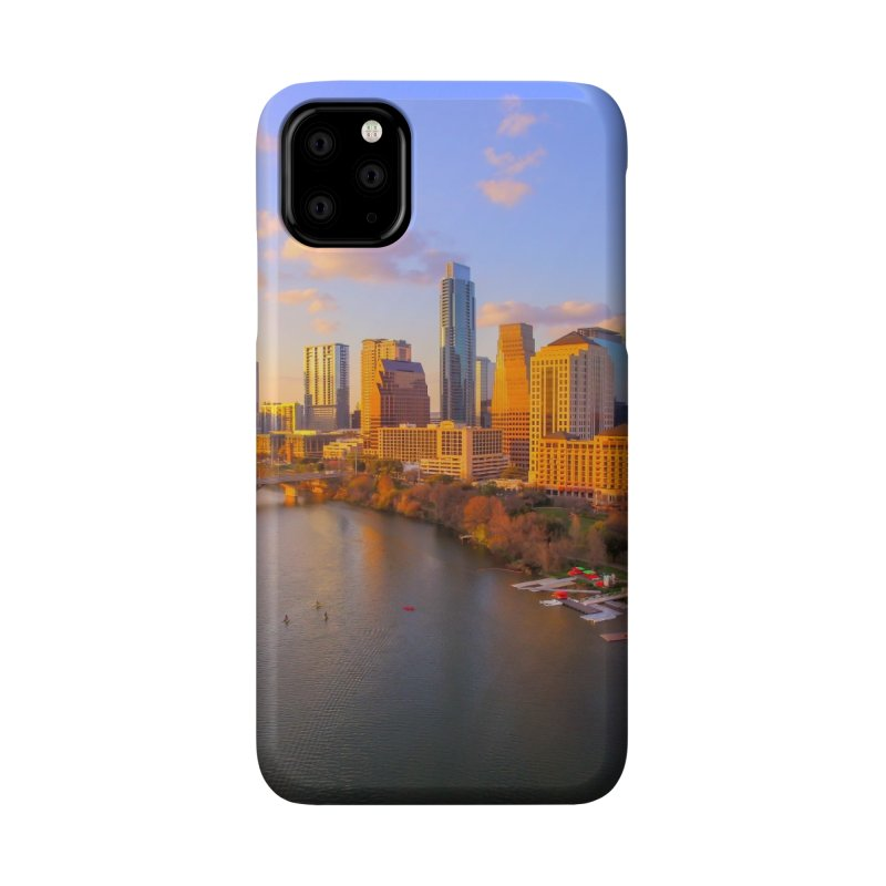 Austin Skyline Sunset / Custom Merchandise / Aerial Photography Accessories Phone Case by Holp Photography Artist Shop
