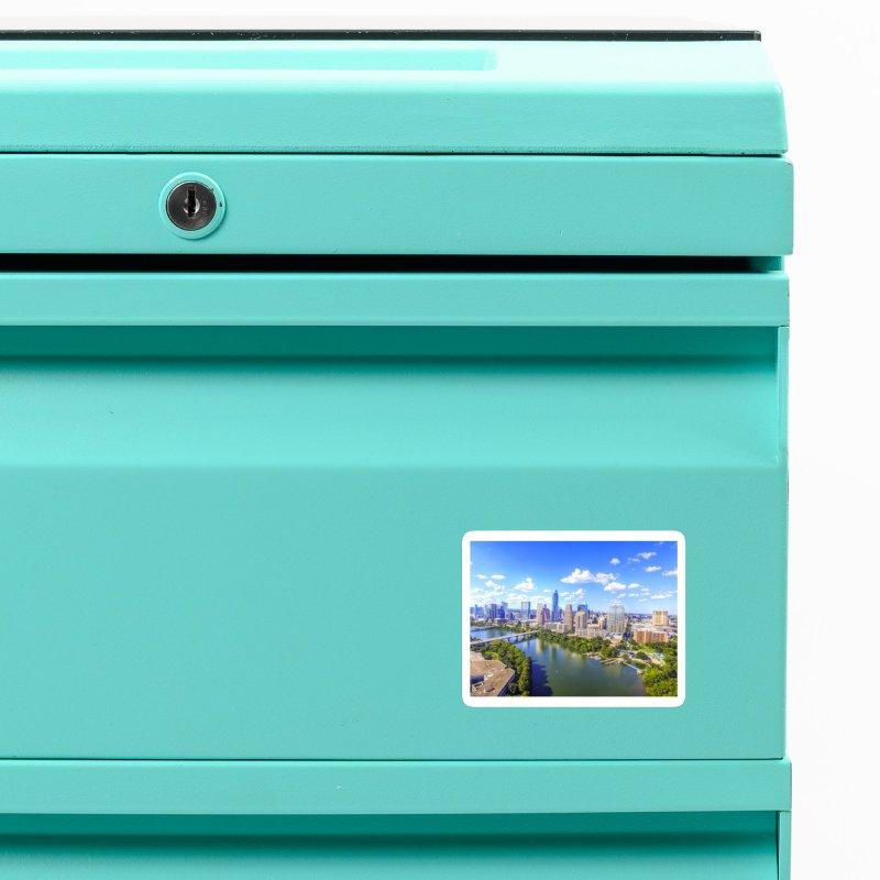 Austin Ladybird Skyline / Custom Merchandise / Aerial Photography Accessories Magnet by Holp Photography Artist Shop
