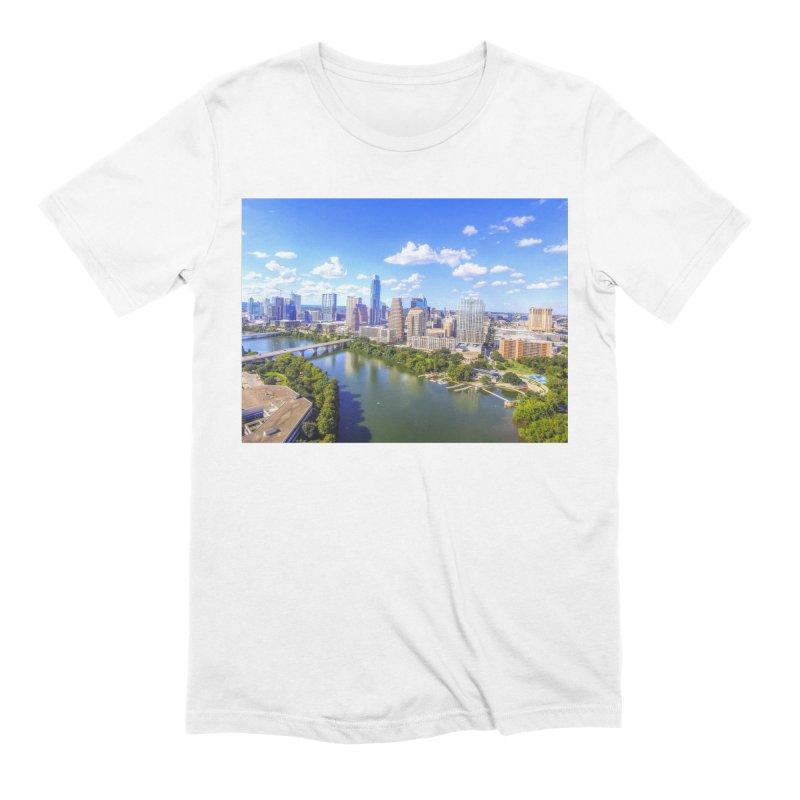 Austin Ladybird Skyline / Custom Merchandise / Aerial Photography Men's Extra Soft T-Shirt by Holp Photography Artist Shop
