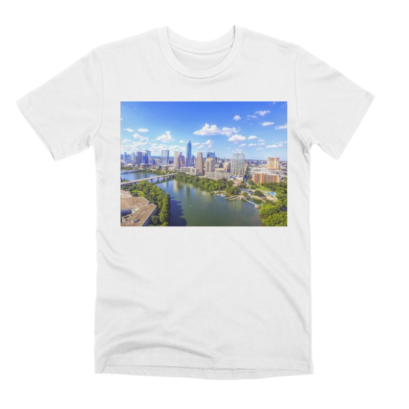 Austin Ladybird Skyline / Custom Merchandise / Aerial Photography Men's Premium T-Shirt by Holp Photography Artist Shop