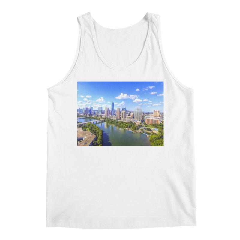 Austin Ladybird Skyline / Custom Merchandise / Aerial Photography Men's Regular Tank by Holp Photography Artist Shop