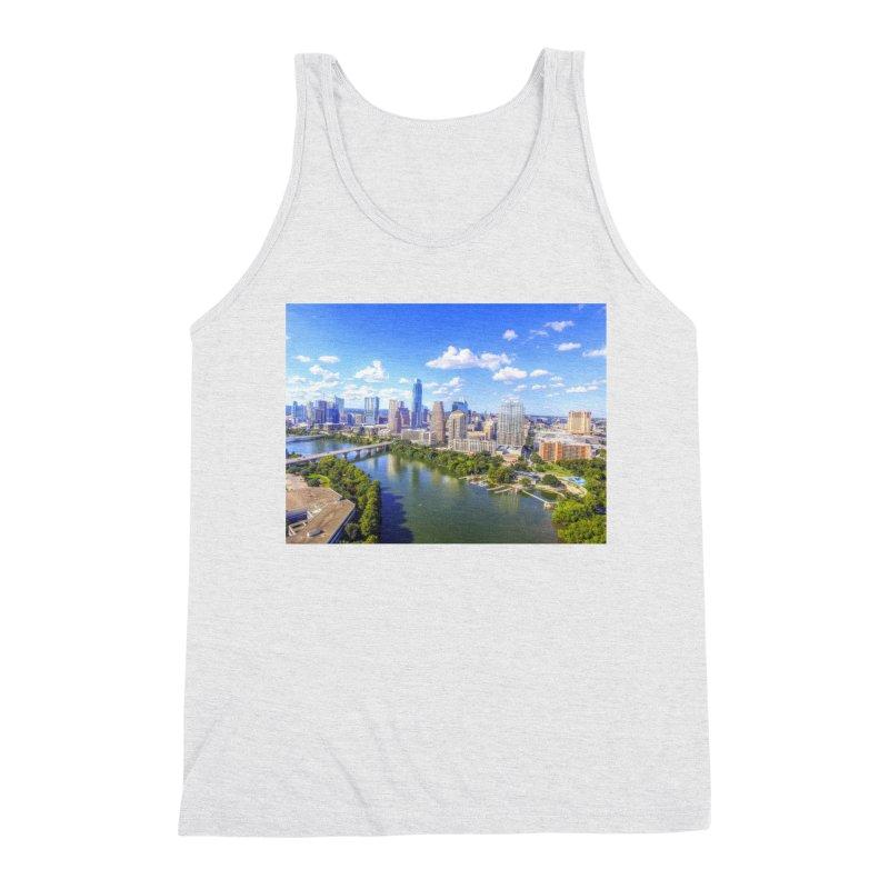 Austin Ladybird Skyline / Custom Merchandise / Aerial Photography Men's Triblend Tank by Holp Photography Artist Shop