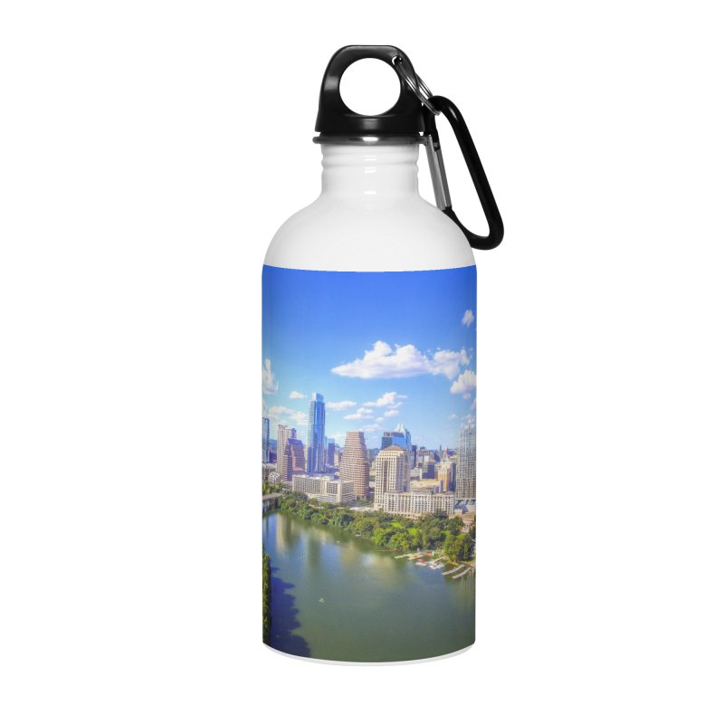 Austin Ladybird Skyline / Custom Merchandise / Aerial Photography Accessories Water Bottle by Holp Photography Artist Shop