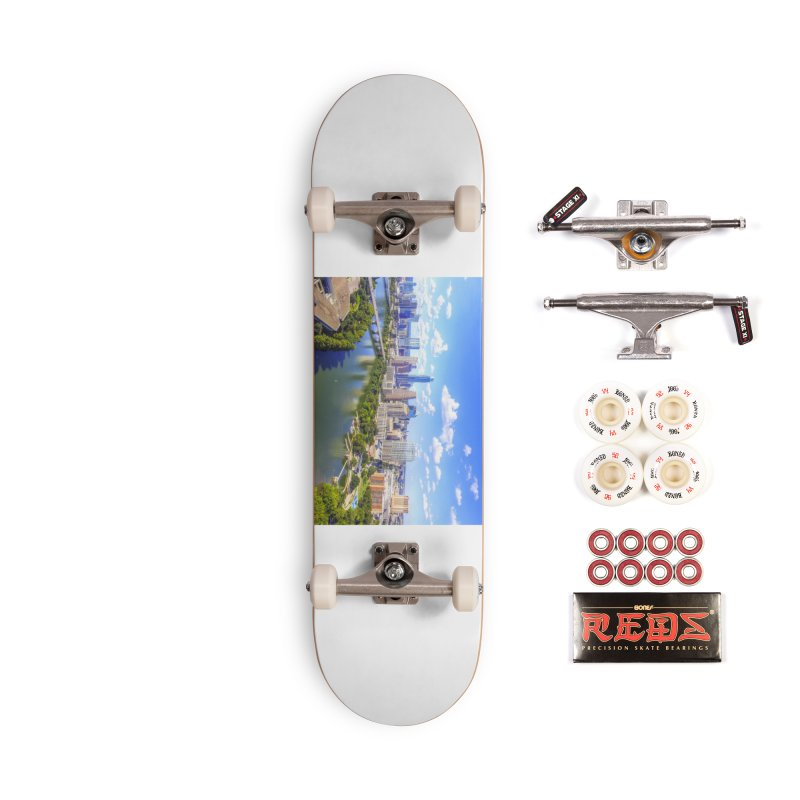 Austin Ladybird Skyline / Custom Merchandise / Aerial Photography Accessories Complete - Pro Skateboard by Holp Photography Artist Shop