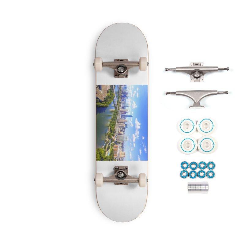 Austin Ladybird Skyline / Custom Merchandise / Aerial Photography Accessories Complete - Basic Skateboard by Holp Photography Artist Shop
