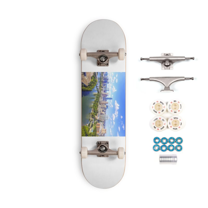 Austin Ladybird Skyline / Custom Merchandise / Aerial Photography Accessories Complete - Premium Skateboard by Holp Photography Artist Shop