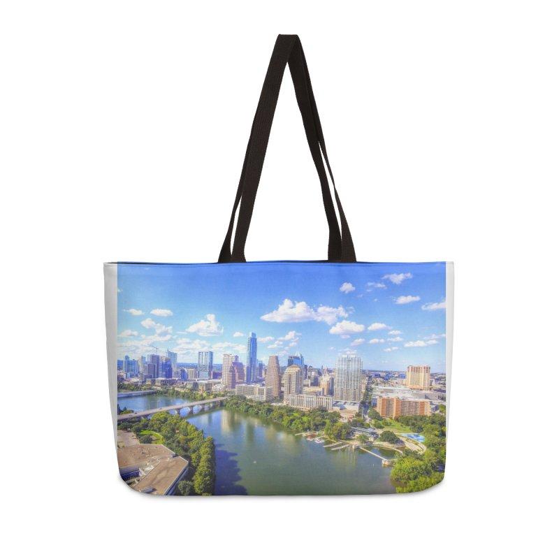 Austin Ladybird Skyline / Custom Merchandise / Aerial Photography Accessories Bag by Holp Photography Artist Shop