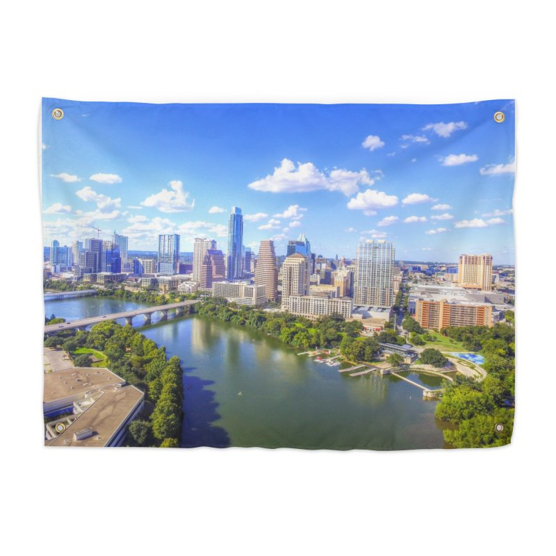 Austin Ladybird Skyline / Custom Merchandise / Aerial Photography Home Tapestry by Holp Photography Artist Shop