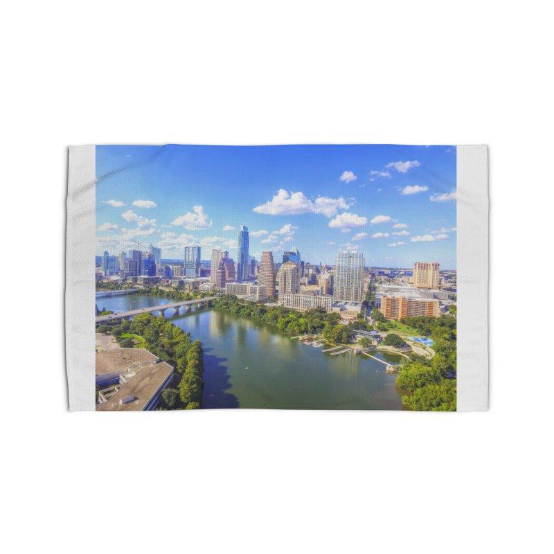 Austin Ladybird Skyline / Custom Merchandise / Aerial Photography Home Rug by Holp Photography Artist Shop