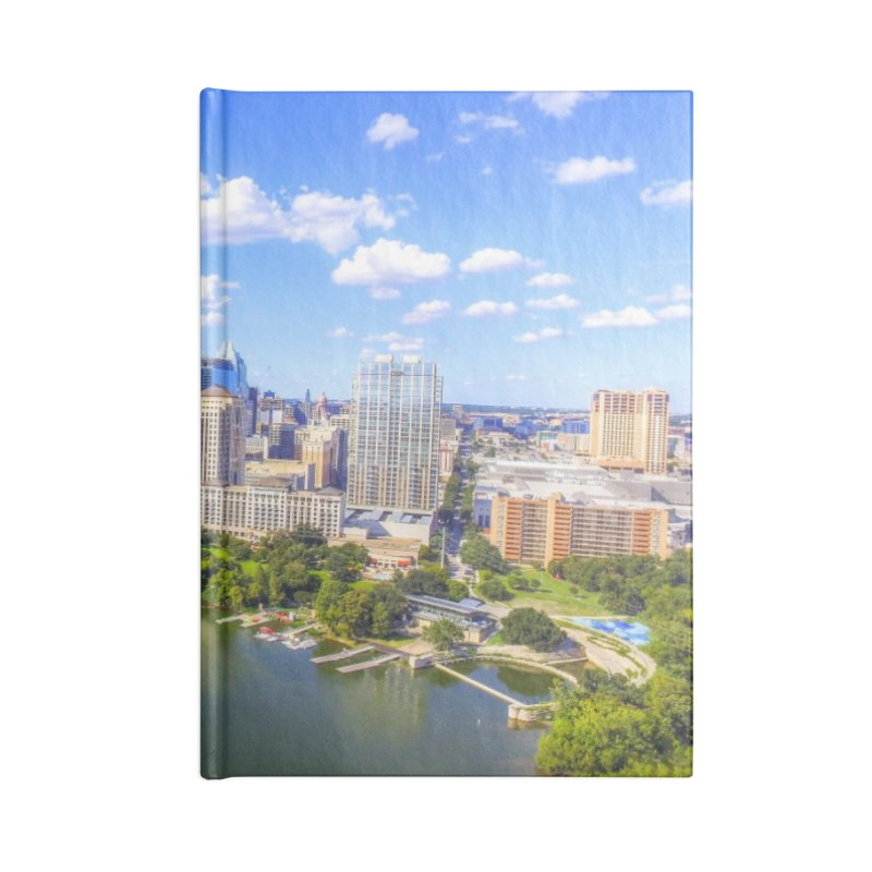 Austin Ladybird Skyline / Custom Merchandise / Aerial Photography Accessories Lined Journal Notebook by Holp Photography Artist Shop
