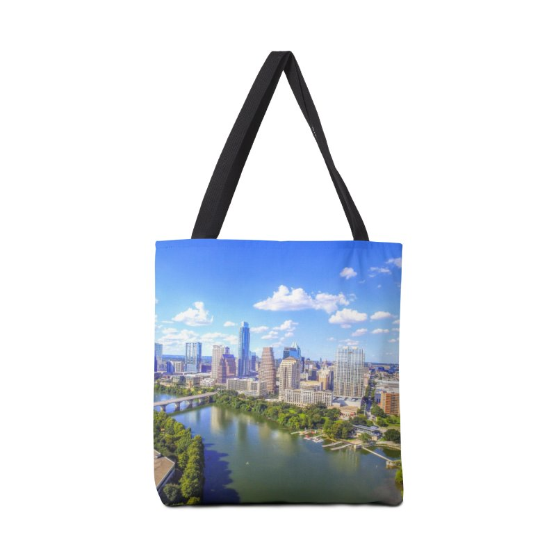 Austin Ladybird Skyline / Custom Merchandise / Aerial Photography Accessories Tote Bag Bag by Holp Photography Artist Shop