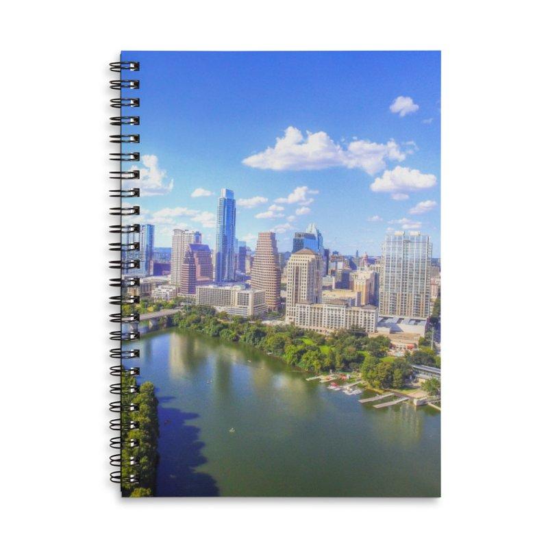 Austin Ladybird Skyline / Custom Merchandise / Aerial Photography Accessories Lined Spiral Notebook by Holp Photography Artist Shop