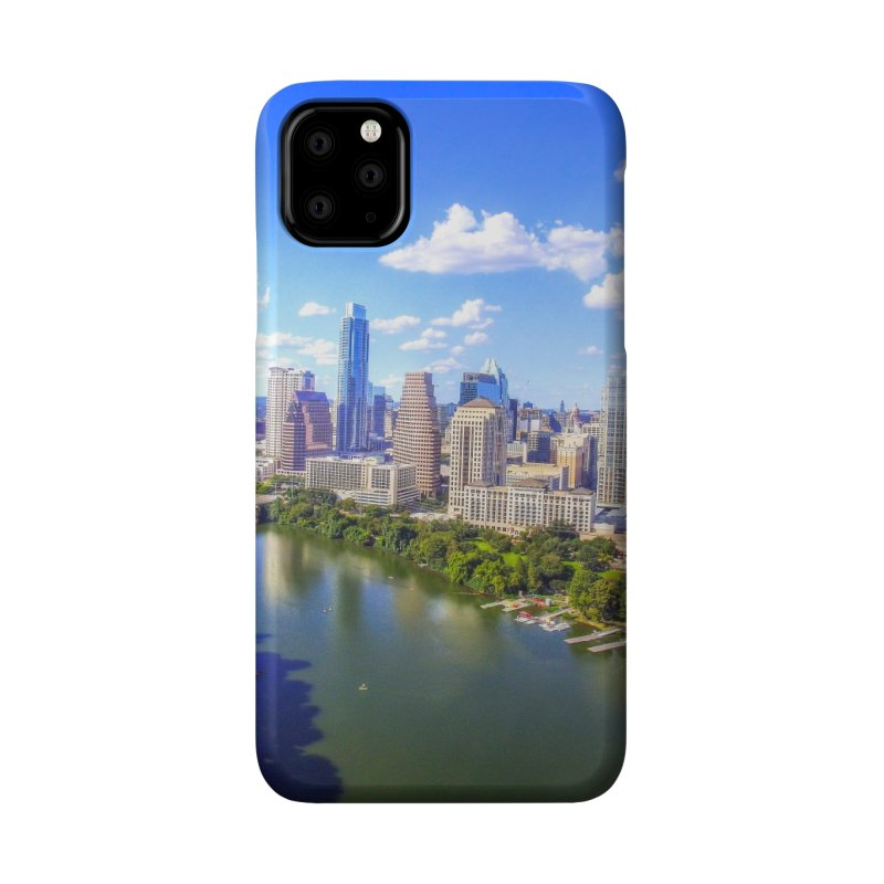 Austin Ladybird Skyline / Custom Merchandise / Aerial Photography Accessories Phone Case by Holp Photography Artist Shop