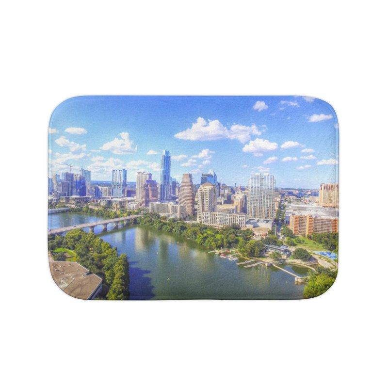 Austin Ladybird Skyline / Custom Merchandise / Aerial Photography Home Bath Mat by Holp Photography Artist Shop