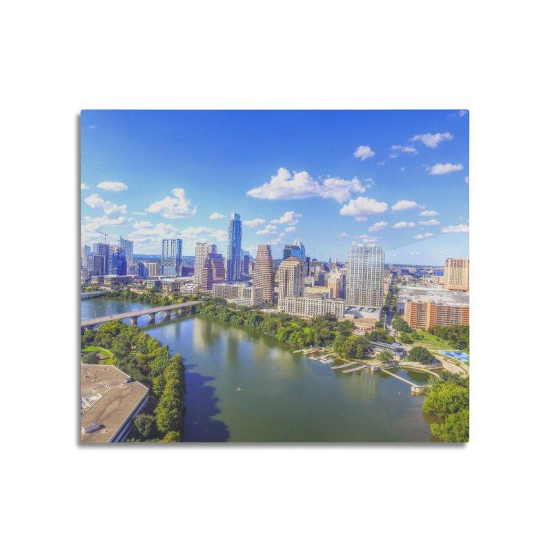 Austin Ladybird Skyline / Custom Merchandise / Aerial Photography Home Mounted Aluminum Print by Holp Photography Artist Shop