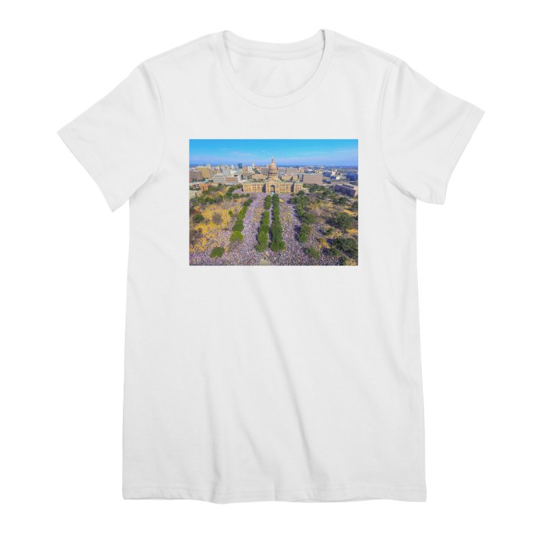 Capitol Women's March / Custom Merchandise / Aerial Photography Women's Premium T-Shirt by Holp Photography Artist Shop