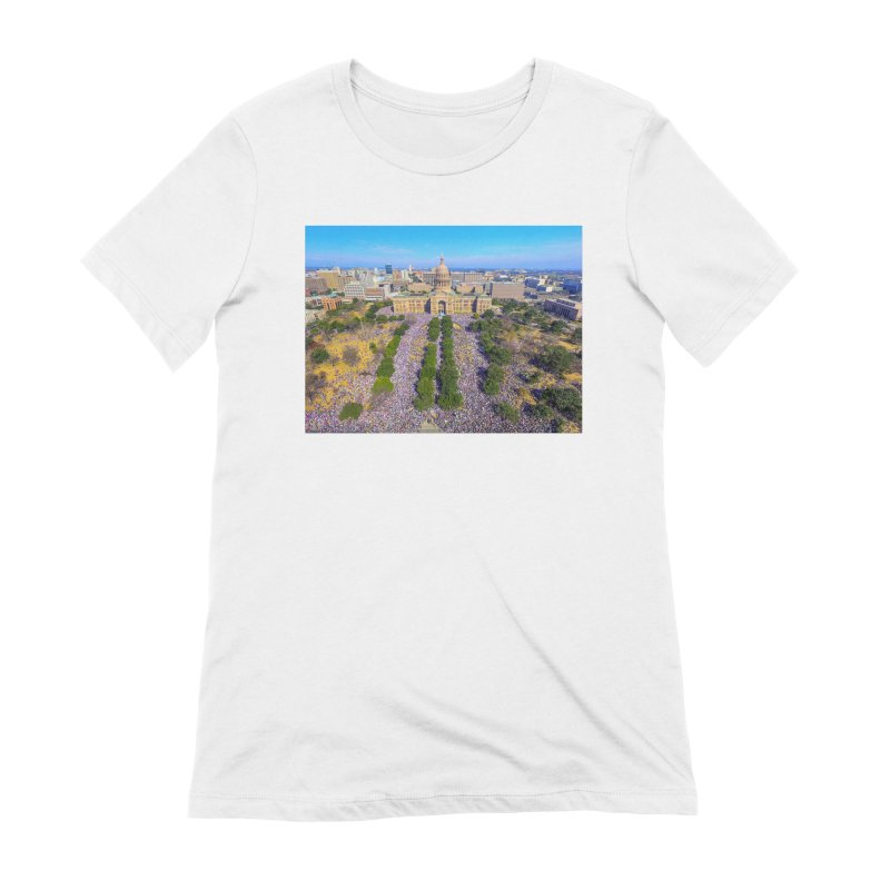 Capitol Women's March / Custom Merchandise / Aerial Photography Women's Extra Soft T-Shirt by Holp Photography Artist Shop