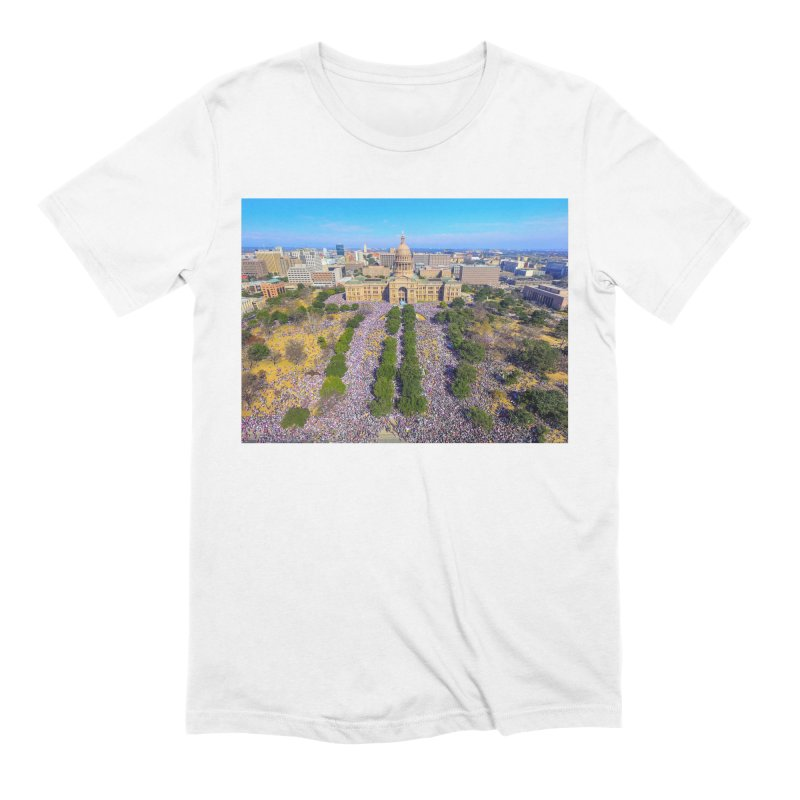 Capitol Women's March / Custom Merchandise / Aerial Photography Men's Extra Soft T-Shirt by Holp Photography Artist Shop