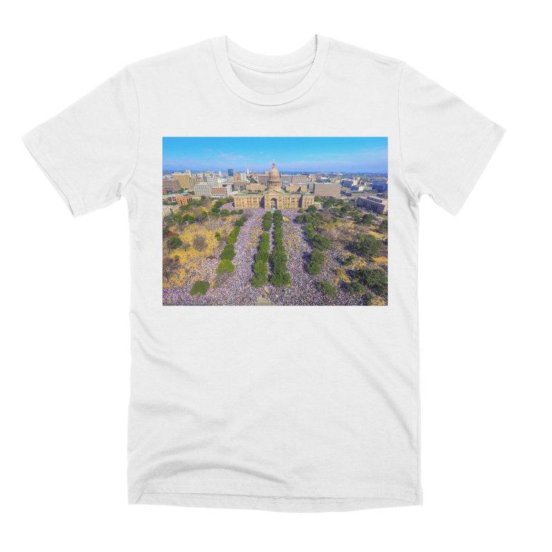 Capitol Women's March / Custom Merchandise / Aerial Photography Men's Premium T-Shirt by Holp Photography Artist Shop