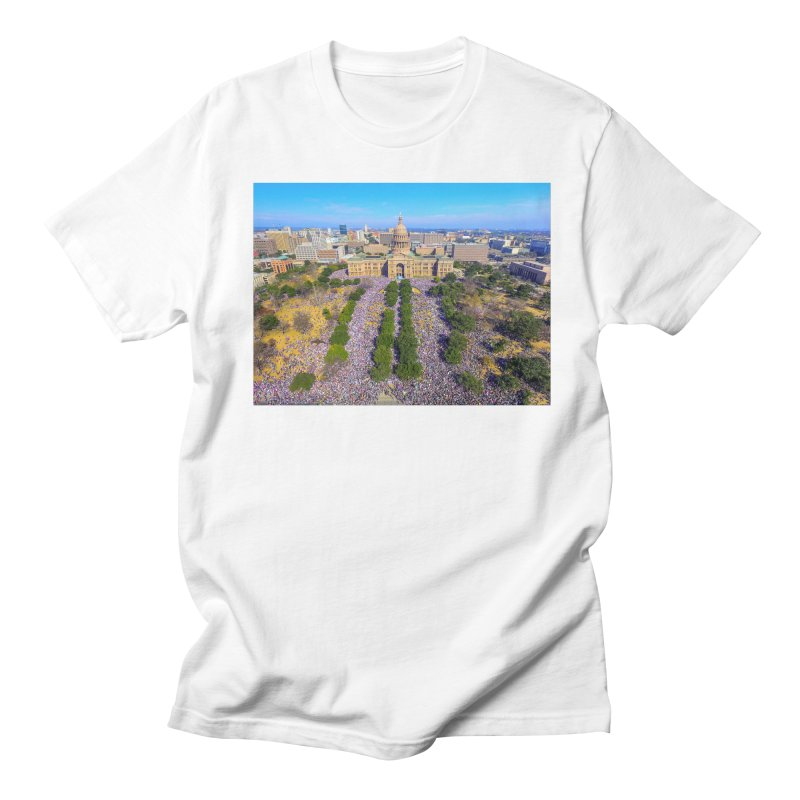 Capitol Women's March / Custom Merchandise / Aerial Photography Men's Regular T-Shirt by Holp Photography Artist Shop