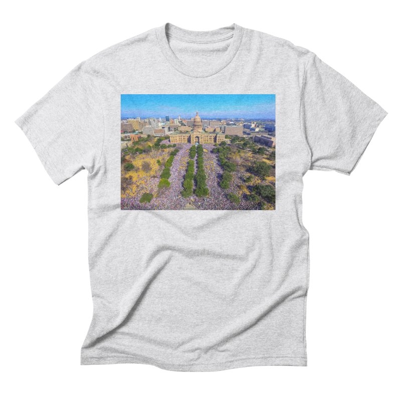 Capitol Women's March / Custom Merchandise / Aerial Photography Men's Triblend T-Shirt by Holp Photography Artist Shop