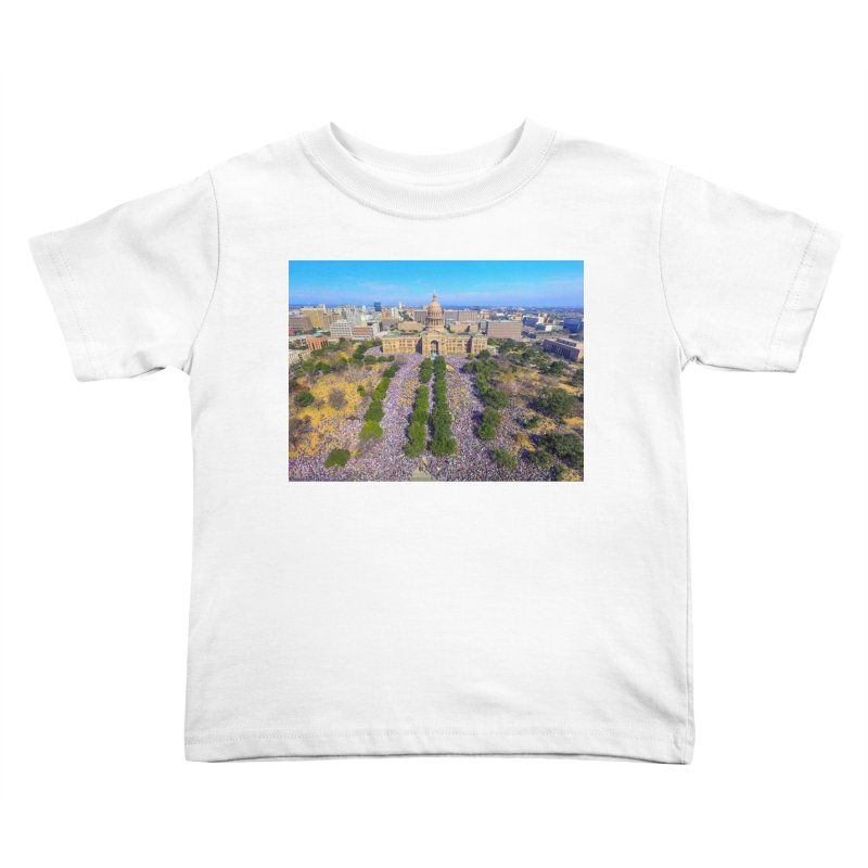 Capitol Women's March / Custom Merchandise / Aerial Photography Kids Toddler T-Shirt by Holp Photography Artist Shop