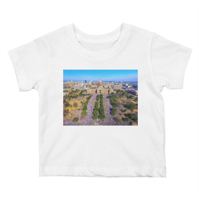 Capitol Women's March / Custom Merchandise / Aerial Photography Kids Baby T-Shirt by Holp Photography Artist Shop