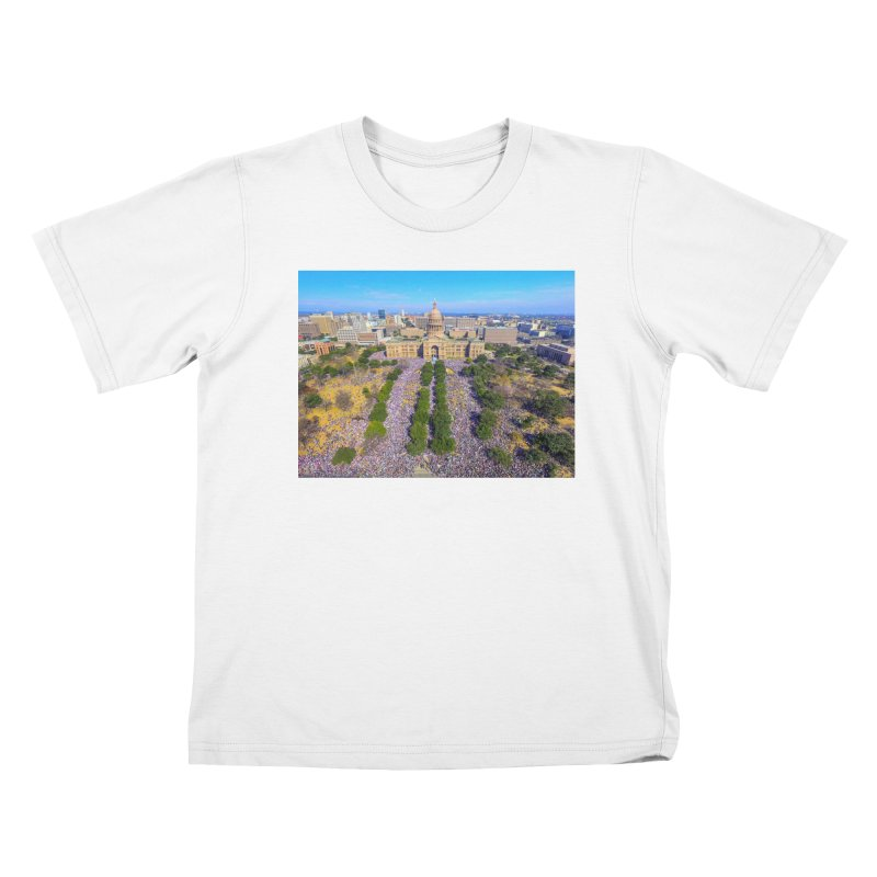 Capitol Women's March / Custom Merchandise / Aerial Photography Kids T-Shirt by Holp Photography Artist Shop