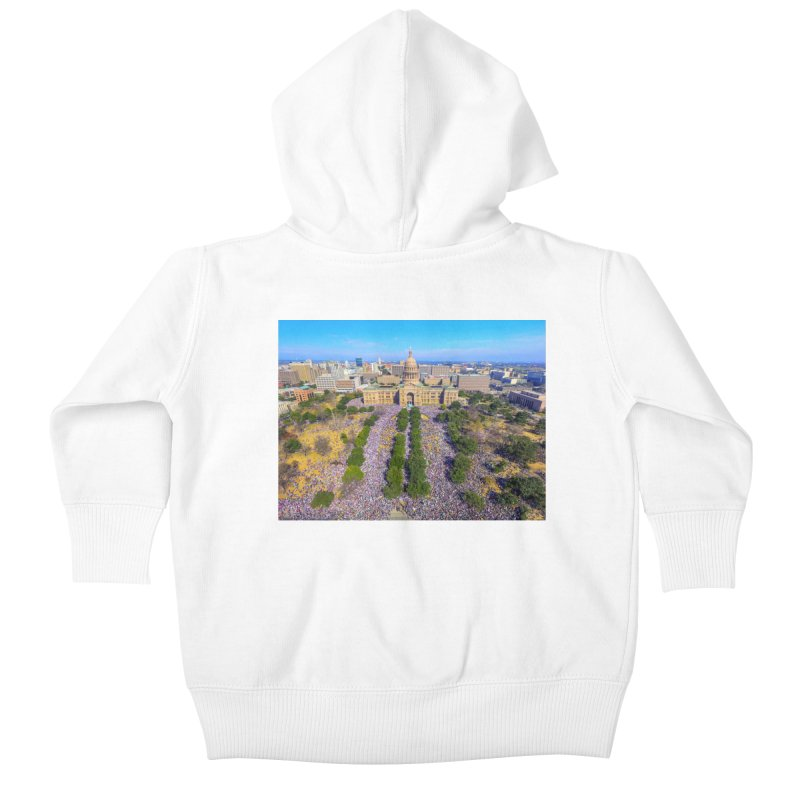 Capitol Women's March / Custom Merchandise / Aerial Photography Kids Baby Zip-Up Hoody by Holp Photography Artist Shop