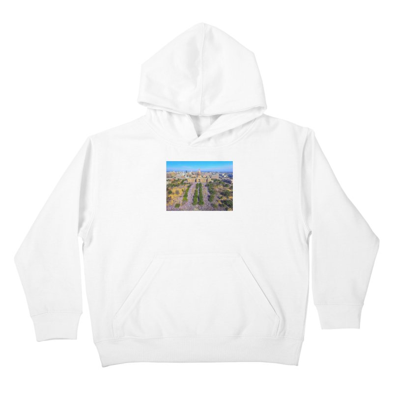 Capitol Women's March / Custom Merchandise / Aerial Photography Kids Pullover Hoody by Holp Photography Artist Shop