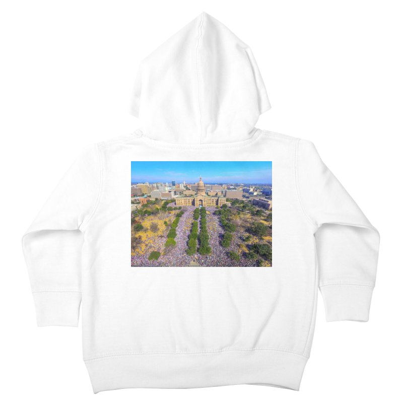 Capitol Women's March / Custom Merchandise / Aerial Photography Kids Toddler Zip-Up Hoody by Holp Photography Artist Shop