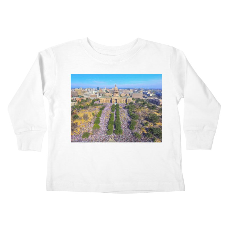 Capitol Women's March / Custom Merchandise / Aerial Photography Kids Toddler Longsleeve T-Shirt by Holp Photography Artist Shop