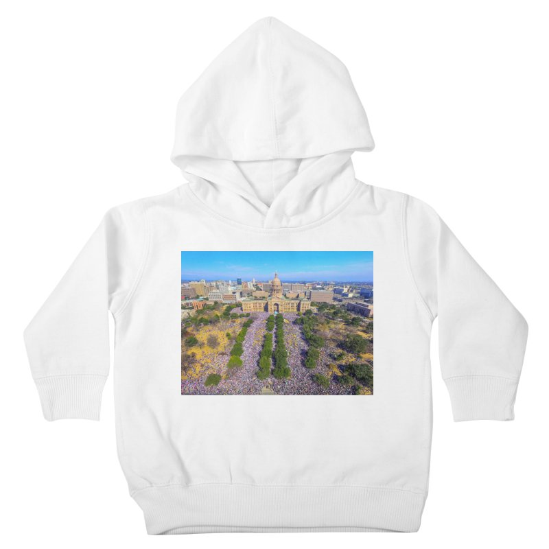 Capitol Women's March / Custom Merchandise / Aerial Photography Kids Toddler Pullover Hoody by Holp Photography Artist Shop