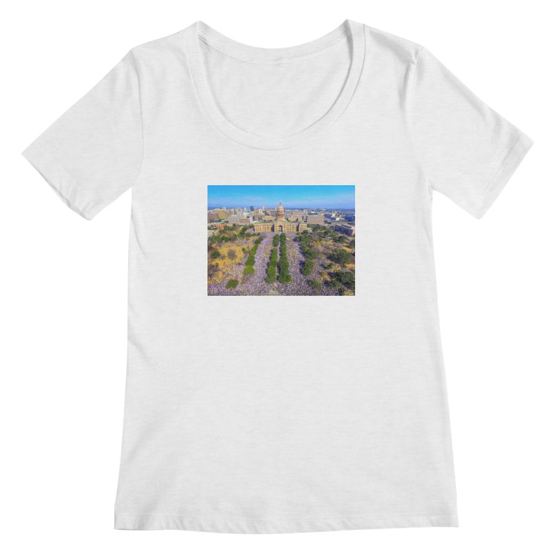 Capitol Women's March / Custom Merchandise / Aerial Photography Women's Regular Scoop Neck by Holp Photography Artist Shop