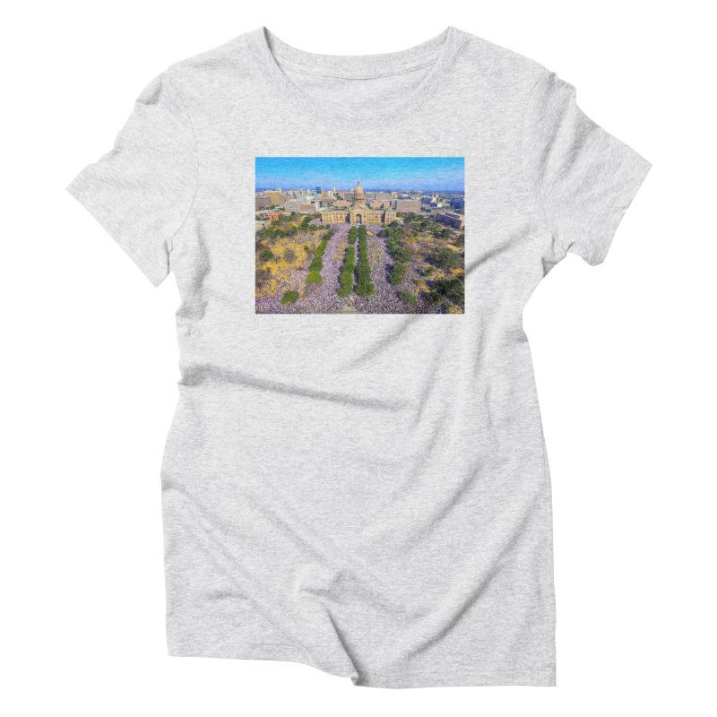 Capitol Women's March / Custom Merchandise / Aerial Photography Women's Triblend T-Shirt by Holp Photography Artist Shop